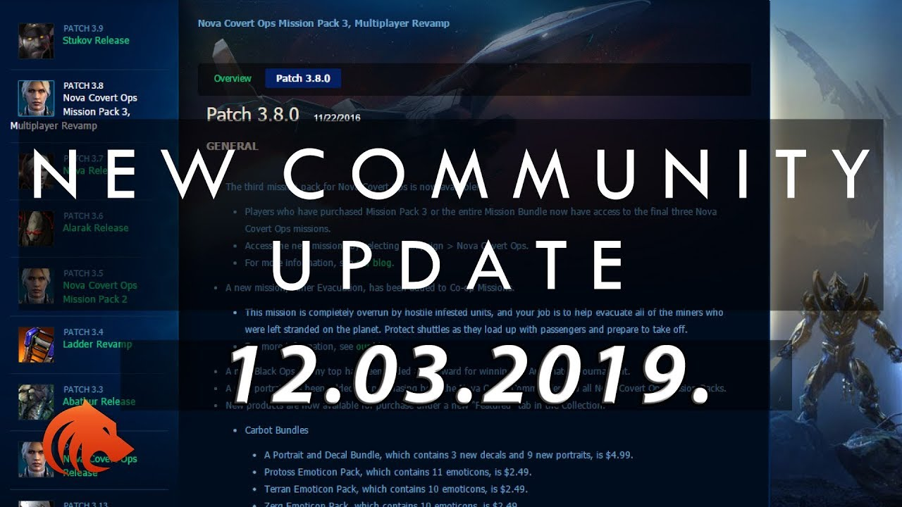 StarCraft 2: Community Balance Update 12 03 2019