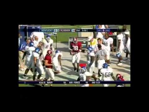 2008 Kentucky Vs. #2 Alabama Highlights