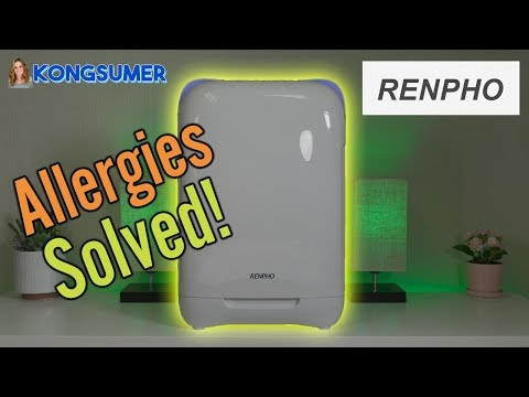 A Great Air Purifier For Allergies and Clean Air!  Renpho Air Purifier Close Up in 4K!