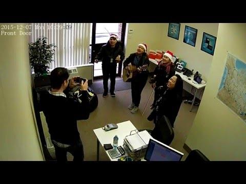 Christmas carols at Tech 4 Canada. For Venezuela