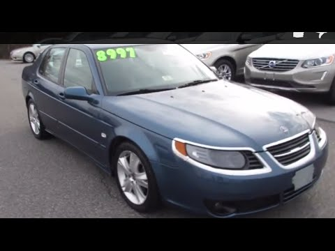 2007 Saab 9-5 2.3T Aero Walkaround, Start up, Tour and Overview ...