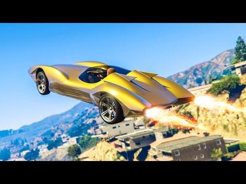 NEW DOUBLE ROCKET CAR! *SCRAMJET* - (GTA 5 DLC Stunts & Fails)