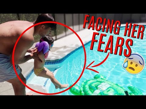 She's TERRIFIED of the pool! (weve tried everything!)