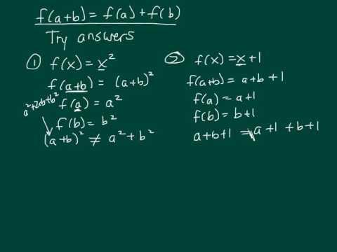 F(a+b)=f(a)+f(b)
