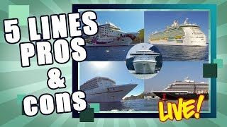 Pros & Cons of 5 Popular Cruise Lines