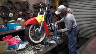 101 1950 & 1959 panhead bike mock-up harley parts hunting at