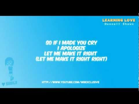 Learning love - Donnell Shawn with on-screen lyrics [wbexclusive]
