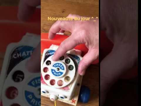 Téléphone Fisher price vintage - YouTube