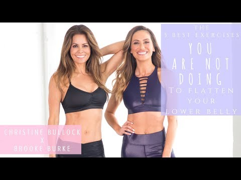 5 Best Ab Moves You Aren't Doing | To Flatten Your Lower Belly | Christine Bullock x Brooke Burke