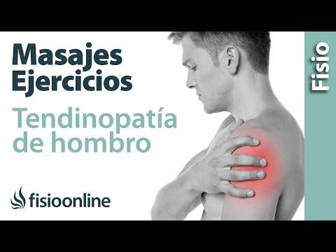 Tendinitis y dolor de hombro - Tratamiento con ejercicios, automasajes y estiramientos