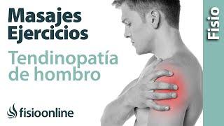 Tendinitis y dolor de hombro  Tratamiento con ejercicios, automasajes y estiramientos