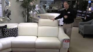 HTL Sectional Leather Sofa Loveseat Adjustable Headrest Recliner Hudson's Furniture Pinellas Park FL