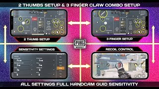 PUBG MOBILE BEST TWO THUMB SETTING + 3 FINGER CLAW COMBO SETUP EVER