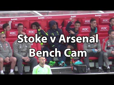 Stoke v Arsenal 1-4 - Bench Cam Alexis Sanchez