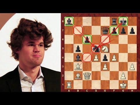 Chess game: Magnus Carlsen uses powerful exchange sacrifice:  vs Birkisson : Isle of Man Chess Open