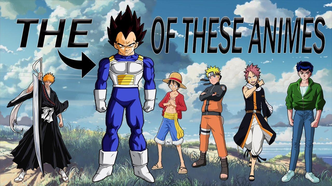 the vegeta of famous animes youtube