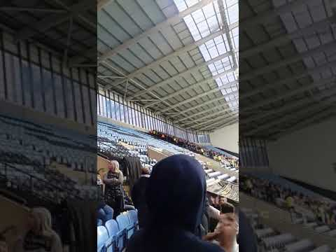 Coventry City fans kicking off with Mansfield fans