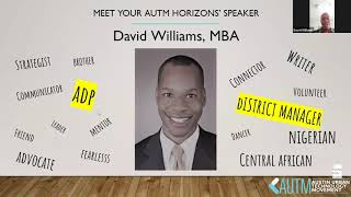 AUTM Horizons: David Williams, MBA, District Manager at ADP
