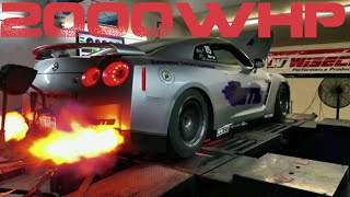 Real 2000whp GT-R Dyno Extreme Turbo Systems Turbo Kit / ER Tuned