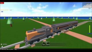 ROBLOX Train Driving from Depot to Dock