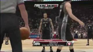 NBA 2k9 Gameplay:Rockets VS Spurs [HD]