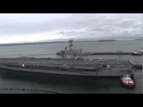 USS Nimitz Aircraft Carrier (CVN 68) Arrives at New Home Port