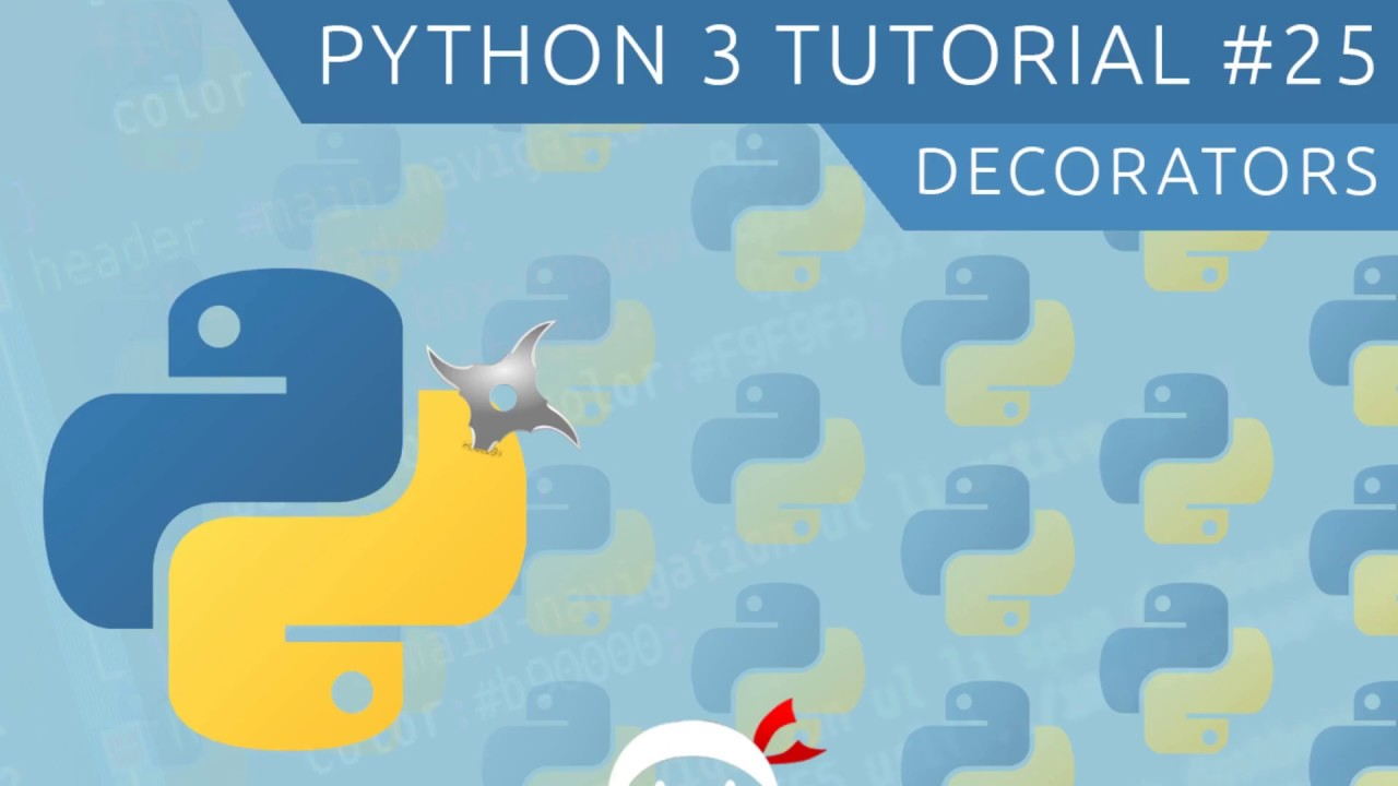 Python 3 tutorial for beginners 25 decorators youtube for Decorator python