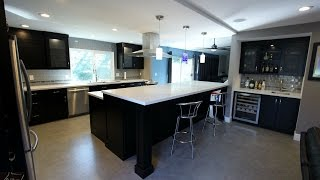 Tour Of Anaheim Hills Transitional Black And Stainless Steel L-shaped Kitchen Remodel Aplus Kitchen