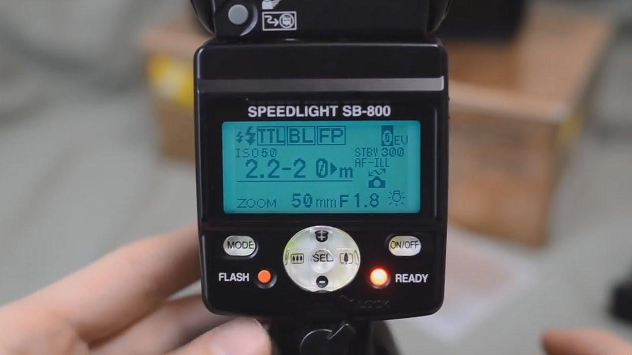 Nikon sb 800 speedlight flash overview youtube baditri Images