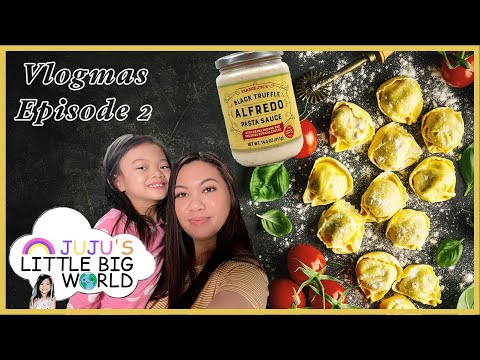 Lobster Ravioli with Black Truffle Alfredo Sauce? Mom Tries to Cook | Vlogmas Episode 2