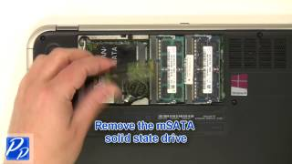 Dell Inspiron 13z (5323) mSATA SSD Hard Drive Replacement Video Tutorial Teardown