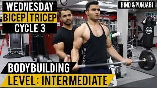 High Rep BICEP/TRICEP Routine! Cycle 3 (Hindi / Punjabi)