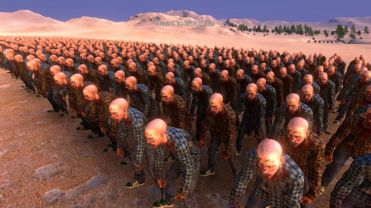 Trận Chiến 5000 Người Đánh Nhau Với 10000 Con Zombie – ULTIMATE EPIC BATTLE SIMULATOR – TẬP 1