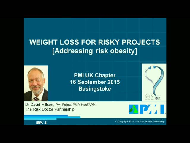 Weight Loss for Risky Projects (webinar)