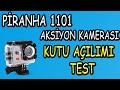 a101 piranha 1101 aksiyon kamerası kutu aÇilimi ve su alti testİ