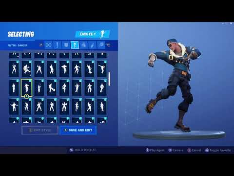 Fortnite Royale Bomber Outfit Showcase With All Dances & Emotes