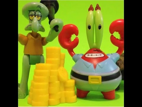 MR KRABS AND SQUIDWARD FISHER-PRICE IMAGINEXT SPONGEBOB SQUAREPANTS - YouTube