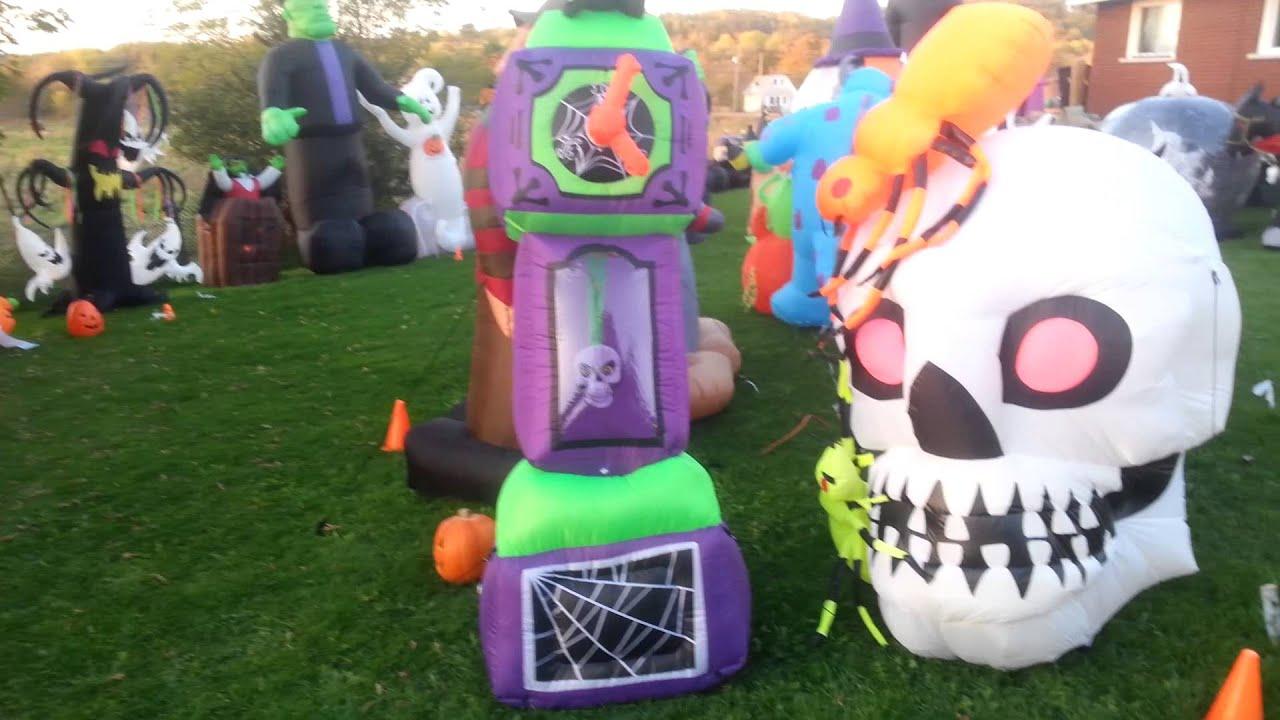 2015 halloween yard haunt youtube - Halloween Inflatable Yard Decorations