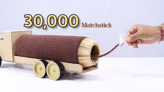 Amazing Art 30000 Matches Powered Jet Truck