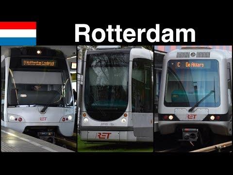 Trains in Rotterdam (Metro, Tram)