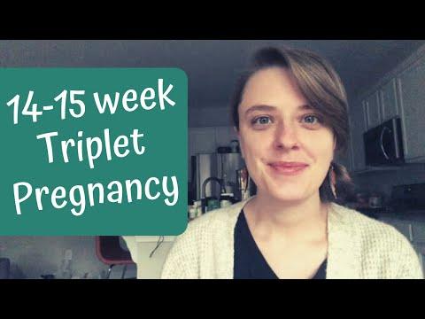 14-15 Week Bumpdate   Feeling the Babies!   Triplet Pregnancy   IVF Success