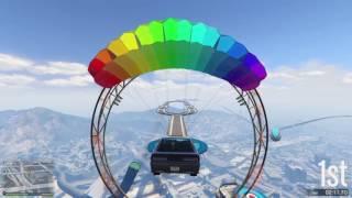 GTA 5 RACE ONLINE PlayStation 4. Min nya blå bil