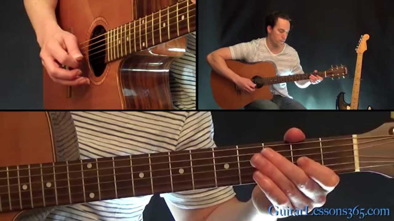 The Beatles And I Love Her Guitar Lesson Acoustic Youtube