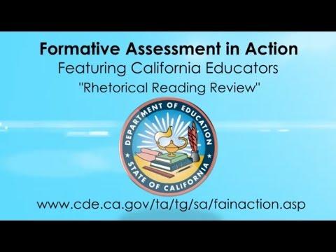 Rhetorical Reading Review (CA Dept of Education)