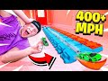 WORLD'S FASTEST HOT WHEELS TRACK! (400+ MPH)