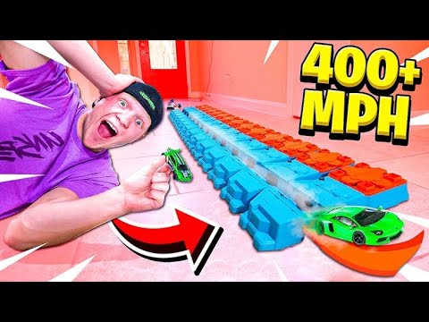 WORLDS FASTEST HOT WHEELS TRACK! (400+ MPH)