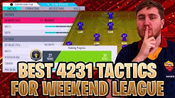 FIFA 20 BEST 4231 TACTICS TO GET YOU WINS IN WEEKEND LEAGUE! TACTICS + INSTRUCTIONS - 4231 GUIDE