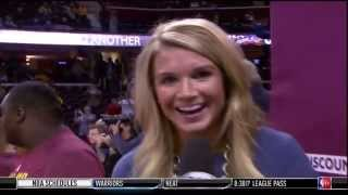 Tristan Thompson Kisses Sideline Interviewer