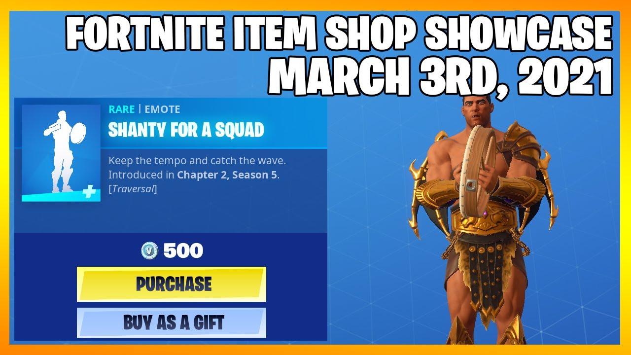 Fortnite Item Shop *NEW* SHANTY FOR A SQUAD EMOTE! [March 3rd, 2021] (Fortnite Battle Royale)
