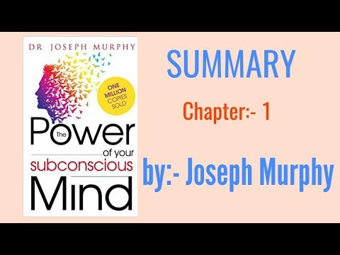 The Power Of Your Subconscious Mind || Summary || Chapter-1 || Joseph Murphy || Cheat Codes